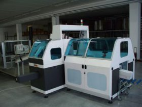 Cartoning machine – handle applicator – conveyors and feeders